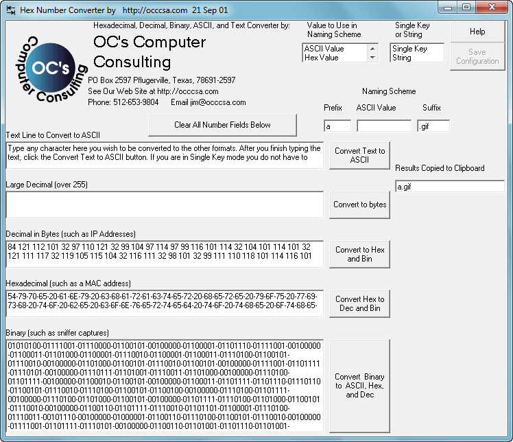 Конвертеры BIN-HEX-DEC-TEXT №2 - Other - Каталог файлов